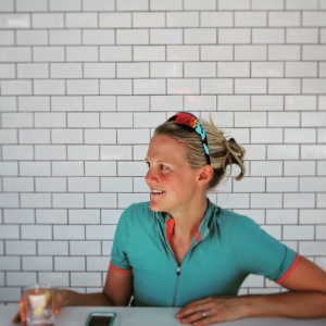 Pamela being as pretty as always after a ride. Post PLT ride food with friends at Pizzeria Locale