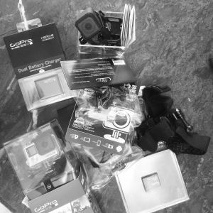 New Camera gear to capture all  moments Penny Love, Pamela and I can dream up. Thanks  GoPro for the gear!