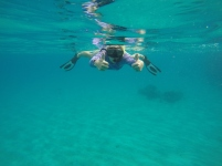 snorkeling in the baths/caves