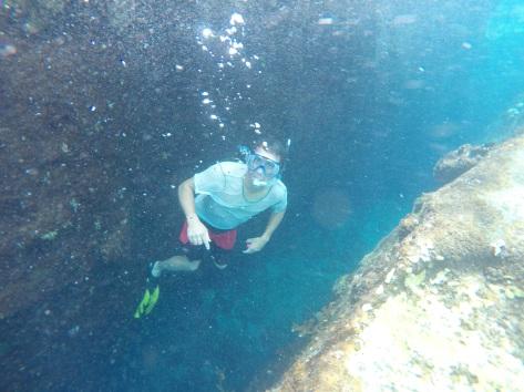 John Mans getting a better look at the reef shark