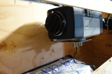 "The heater attached with the ""L"" Bracket"