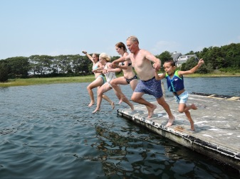 family jump at the Cape