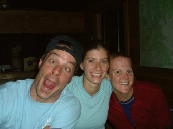 Best picture of all time on a hut trip: Leo, Julia, Me