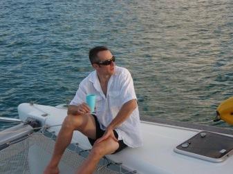 Leo sailing in the BVI
